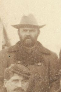 "First Lieutenant Loyd S. McCormick, Regimental Adjutant, 7th Cavalry, at Pine Ridge Agency, 16 Jan. 1891. Cropped from John C. H. Grabill's photograph, ""The Fighting 7th Officers."""