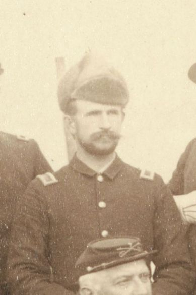 "Second Lieutenant Thomas Q. Donaldson, Jr., C Troop, 7th Cavalry, at Pine Ridge Agency, 16 Jan. 1891. Cropped from John C. H. Grabill's photograph, ""The Fighting 7th Officers."""