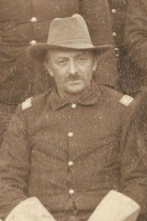 "Captain Charles A. Varnum, B Troop, 7th Cavalry, at Pine Ridge Agency, 16 Jan. 1891. Cropped from John C. H. Grabill's photograph, ""The Fighting 7th Officers."""