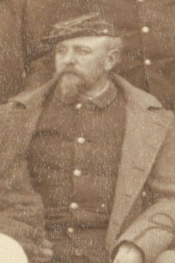 "Captain Charles S. Ilsley, Commander, E Troop and 2nd Battalion, 7th Cavalry, at Pine Ridge Agency, 16 Jan. 1891. Cropped from John C. H. Grabill's photograph, ""The Fighting 7th Officers."""