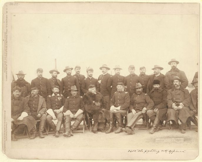 The Fighting 7th Officers, by John C. H. Grabill, Official Photographer of the Black Hills & F. P. R. R., and Home Stake Mining Co., Studios: Deadwood and Lead City, South Dakota.
