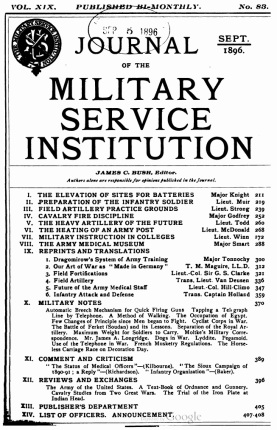 Journal of the Military Service
