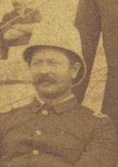 Second Lieutenant James D. Mann at target range camp at the Fort Riley, Kansas in 1888.