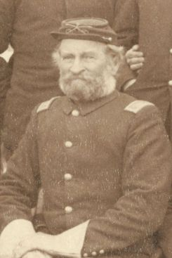 "Major Samuel M. Whitside, 7th Cavalry, at Pine Ridge Agency, 16 Jan. 1891. Cropped from John C. H. Grabill's photograph, ""The Fighting 7th Officers."""