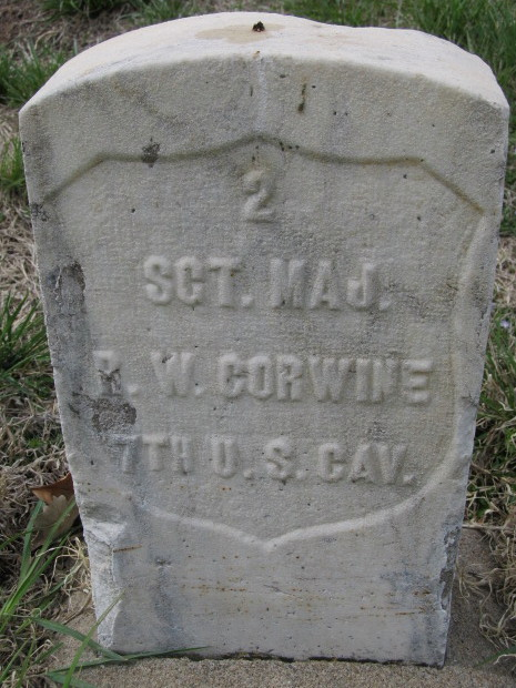 Sergeant Major Richard W. Corwine is buried in the Fort Riley Post Cemetery.[12]
