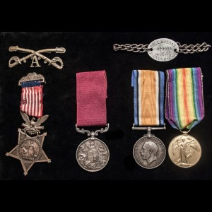 This Hobday medal collection includes Private George Hobday's Medal of Honor and his cavalry insignia and is for sale by The London Medal Company for £12,500 or almost $20,000.[10]