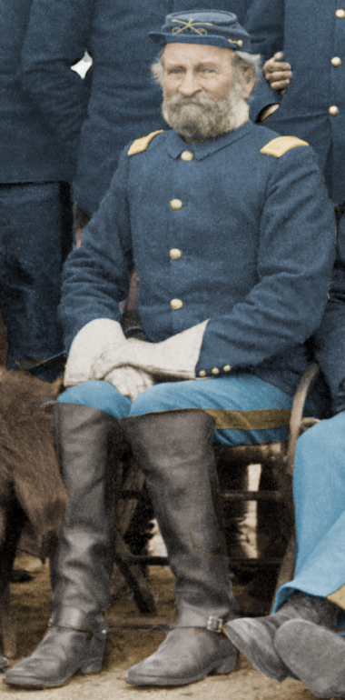 Major Samuel M. Whitside, 7th Cavalry, at Pine Ridge Agency, 16 Jan. 1891. Cropped from John C. H. Grabill's photograph,