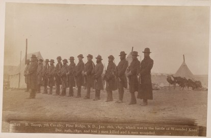 B Troop 7th Cavalry Pine Ridge - 18 Jan 1891