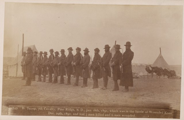 B. Troop, 7th Cavalry, Pine Ridge, S.D., Jan. 18th, 1891