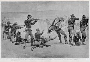 "Frederic Remington's ""The Opening of the Fight at Wounded.""[1]"