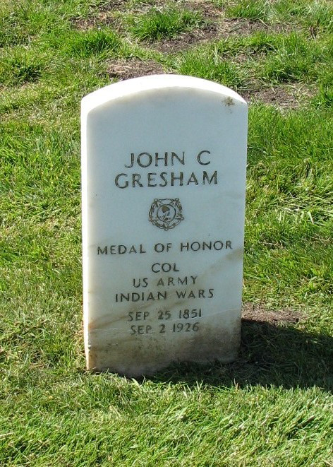 Col John C Gresham headstone
