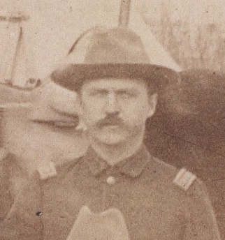 First Lieutenant John C. Gresham at Pine Ridge Agency, c. 1891.[a]