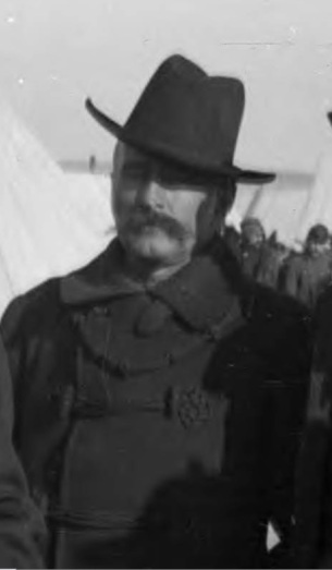 Captain Frank D. Baldwin at the Pine Ridge Agency, 13 January 1891.
