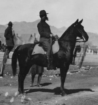 Selah R. H. Tompkins, 7th U.S. Cavalry, mounted.[15]