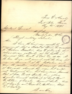 (Click to enlarge) Captain C. S. Ilsley's letter of recommendation.