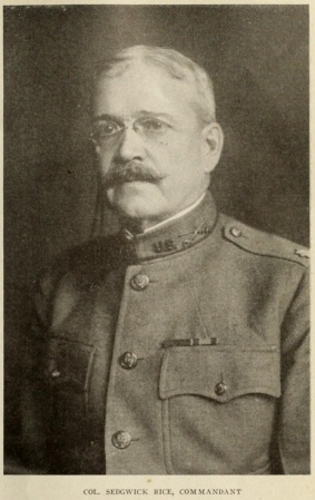 Col Sedgwick Rice, Commandant
