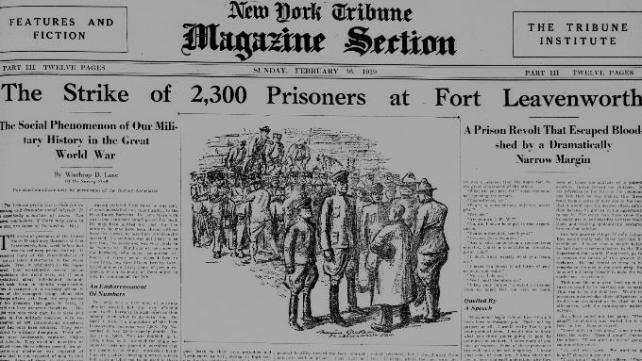 New York Tribune-19190216 - Stirke of 2,300 Prisoners