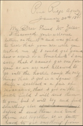 (Click to enlarge) page one of Thomas McGuire's letter to Mr. Zeller.