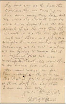 (Click to enlarge) Page two of Thomas McGuire's letter to Mr. Zeller.