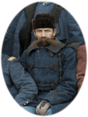 Godfrey - Fighting 7th Officers - J. C. H. Grabill - colorized by Amy Gigliotti
