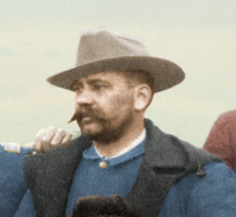 Lieut. Horatio G. Sickel - Fighting 7th Officers - J. C. H. Grabill - colorized by Amy Gigliotti