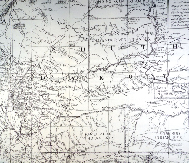 Brooke's Map from Pine Ridge 1890