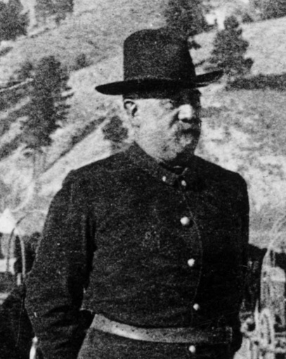 Brig. Gen. J. R. Brooke at Pine Ridge, January 1890. Cropped from